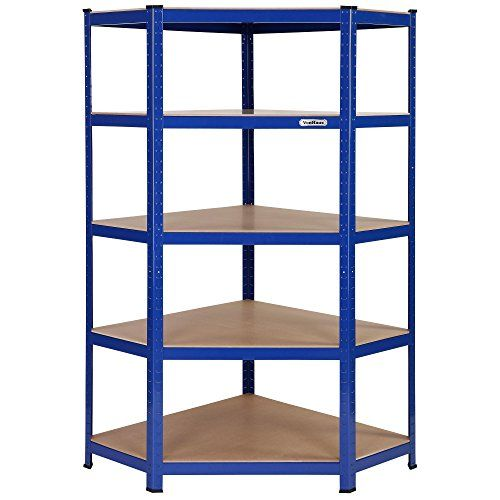 VonHaus 5 Tier Heavy Duty Steel & MDF Corner Racking Shelving Unit - 875kg Capacity VonHaus http://www.amazon.co.uk/dp/B013X3KFBO/ref=cm_sw_r_pi_dp_hxdnwb1BMS45T