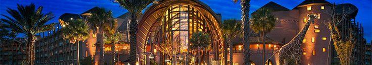 An artist's rendering of Disney's Animal Kingdom Lodge at night