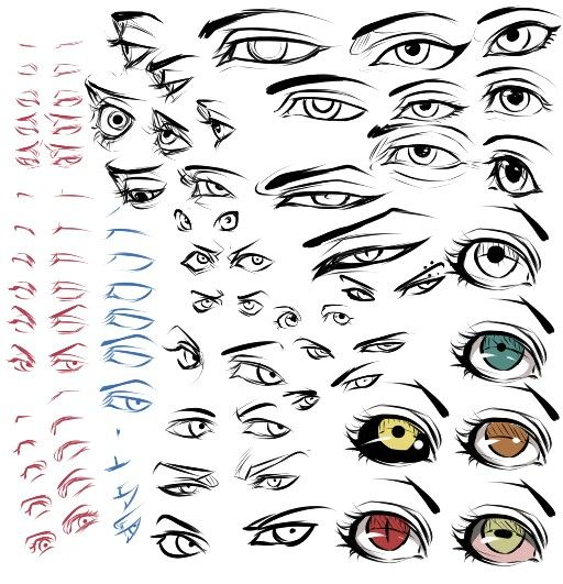 Drawing Anime Eyes Tutorial DeviantArt Moli158 | Tuts ...
