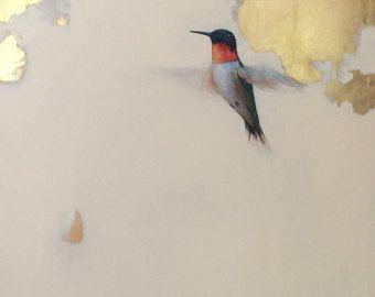 Original oil painting hummingbird by artist by AmandaFaubusFineArt