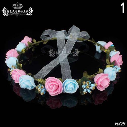 Flower-Crown-Festival-Headband-Wedding-Party-Floral-Garland-Hairband-Garland-New