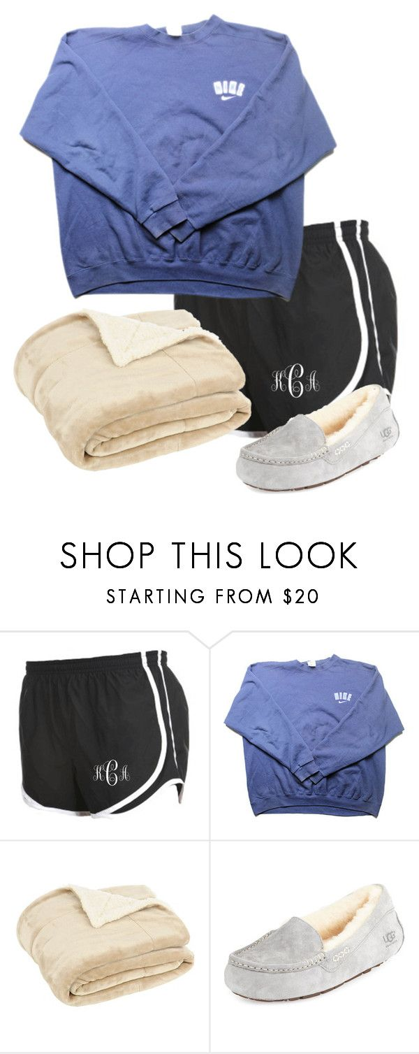 """""""Nighty night """" by madelyn-abigail ❤ liked on Polyvore featuring NIKE, UGG Australia, women's clothing, women's fashion, women, female, woman, misses and juniors"""