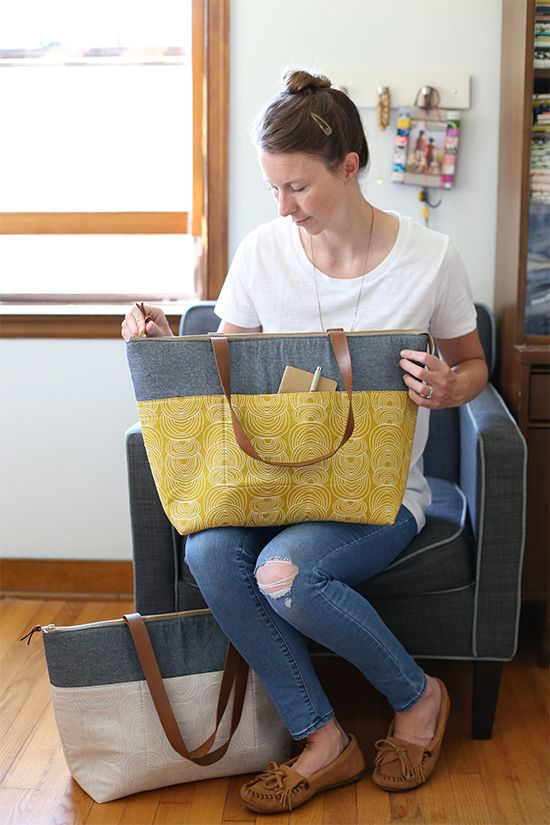 Zip Top Tote, pattern from Handmade Style by Anna Graham