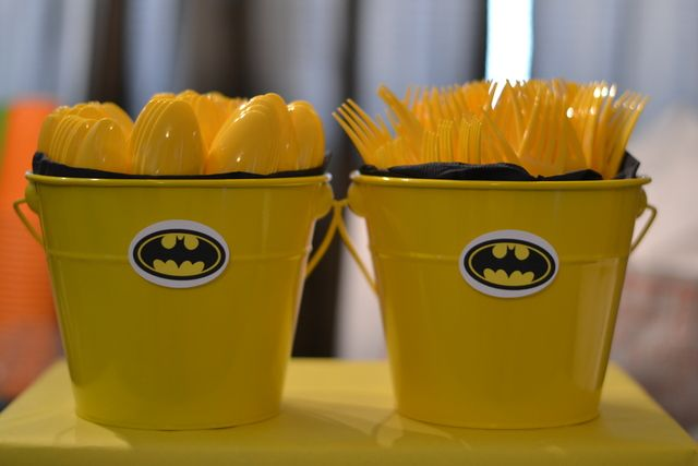"Photo 4 of 31: Super Heroes, Batman, Batgirl, Hot Pink, Yellow, Black / Birthday ""Faith's 5th Batman/Batgirl Party"" | Catch My Party"