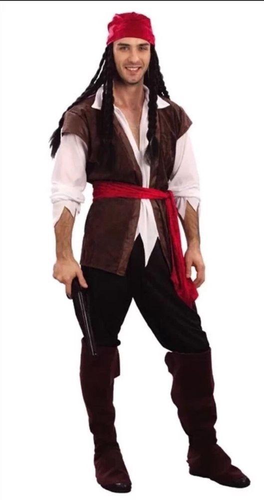 Mens Caribbean Captain Jack Sparrow Pirate Fancy Dress Costume Stag Party UK | Clothes, Shoes & Accessories, Fancy Dress & Period Costume, Fancy Dress | eBay!