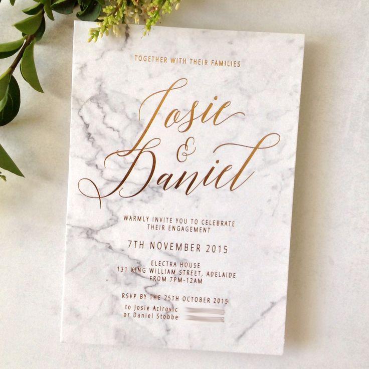 Best 25 gold wedding invitations ideas on pinterest gold wedding invitations copper foiling on graphic printed marble background on cotton stopboris Gallery