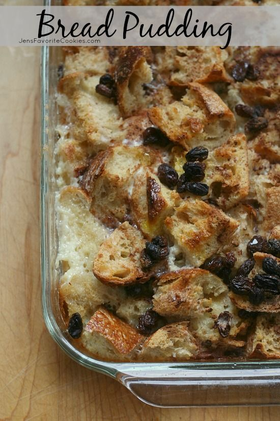 Bread Pudding from JensFavoriteCookies.com - a basic dessert comfort food.