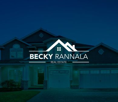 Becky Rannala - Real Estate Agent Logo Design. Becky sells big houses, houses with chimney. The logo just says it all. You won't see this logo and call Becky asking for an apartment.