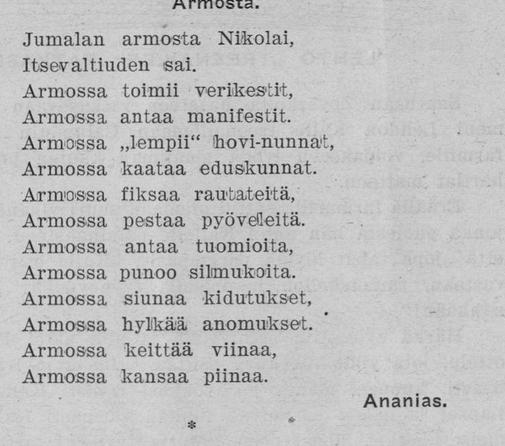 Runo Nikolai II, 01.04.1910 Amerikan Matti no 1