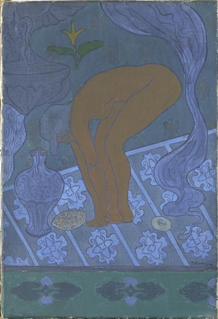 """""""Lustral"""" de Paul-Elie Ranson (1861-1909). Paris, musée d'Orsay - Photo (C) Musée d'Orsay, Dist. RMN-Grand Palais / Patrice Schmidt"""