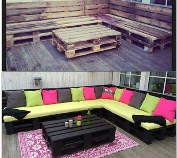 Cute pallet furniture makeover