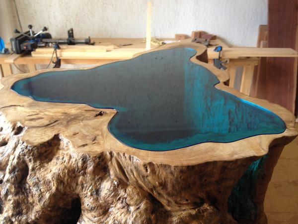 Glass Lake Coffee Table