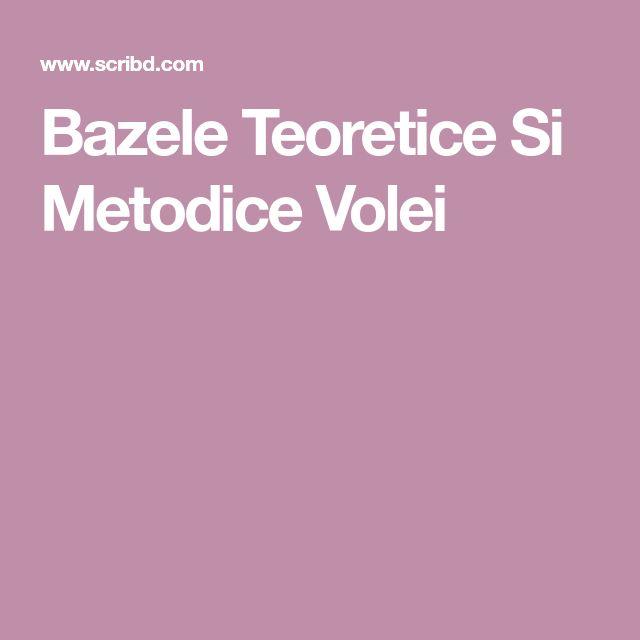 Bazele Teoretice Si Metodice Volei, Metodica cu poze -