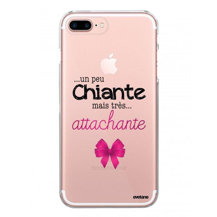 Coque Iphone 7 Plus / 8 Plus Rigide Transparente Un Peu Chiante Tres Attachante …