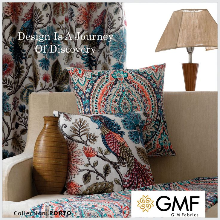 Give your guests something to talk about with our #Floral collection #Porto #OnlyAtGMF Explore more on www.gmfabrics.com #HomeDecor #HomeFabrics #Cushions #Upholstery #Furnishings #Interiors #GMF