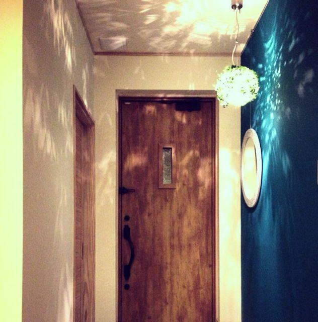 色壁/照明/玄関ドア/玄関/入り口のインテリア実例 - 2013-03-15 19:29:42   RoomClip(ルームクリップ)