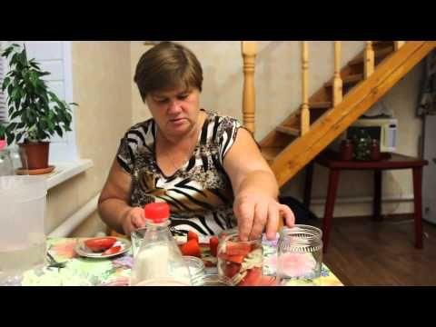 """Рецепт консервированных помидоров. """"Аппетитные дольки"""". - YouTube"""