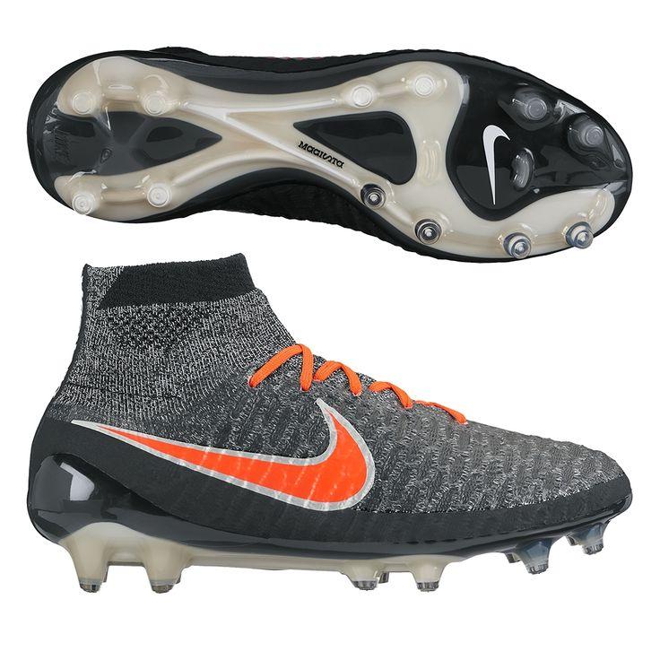 Nike Women's Magista Obra FG Soccer Cleats (Black/White/Grey/Crimson)