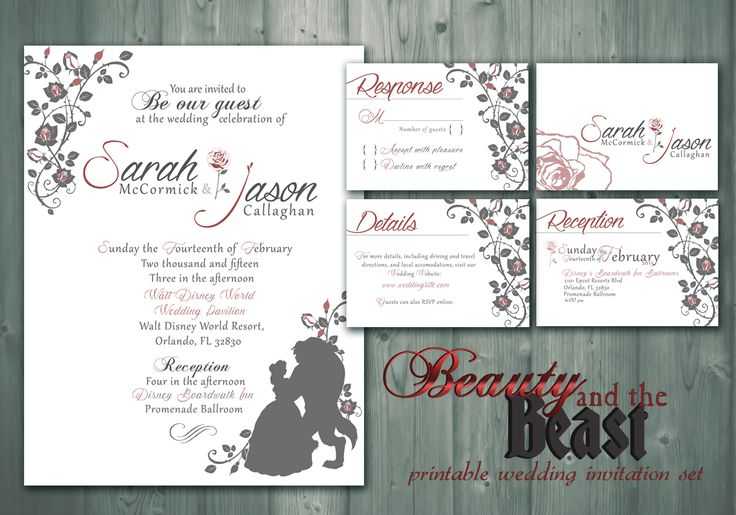 This was something I made that I didn't know would sell as well as it has. #Beauty and the #Beast #wedding #invitations! It's a set of two invitations (8.5x11 and 5x7), and four cards with things like #RSVP, #Reception, details and a monogram. They're all #printable so you can do them right from home, and they're all created and edited by me. I've had a lot of successful orders so far, many of which have changed the colors.  #Disney #Etsy #Fairytale #Weddings