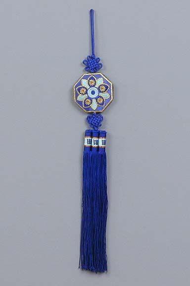 Traditional Korean Accessories | Blue Chrysanthemum No-ri-gae