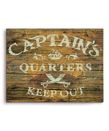 Loving this Yellow 'Captain's Quarters' Wall Art on #zulily! #zulilyfinds