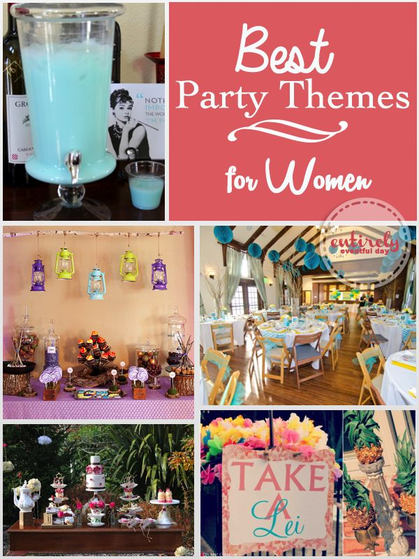 Lots Of Fabulous Party Ideas For Women I Love Them All Stepford Wives Vintage Luau Glampi