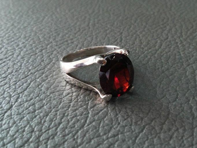 925 Sterling Silver RING, GARNET, Gemstones Ring,Handmade Sterling Silver, Silver Ring Jewelry,Birthstones. by MoyokSilver on Etsy