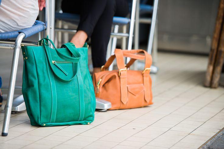 Green Satchel Bag. Tote. Cross Body. Fairtrade. www.bettyandbetts.com