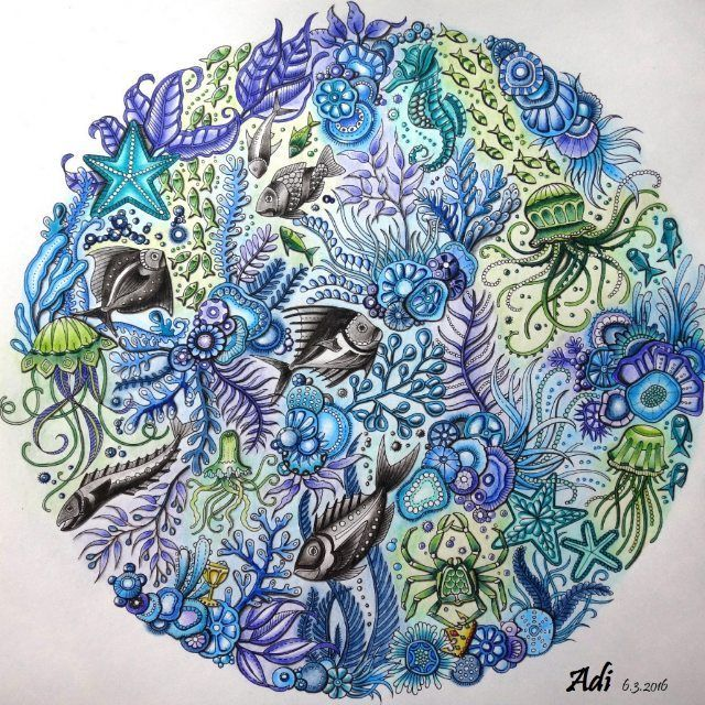 76 best Lost Ocean Coloring Book Completed Pages Inspiration ...