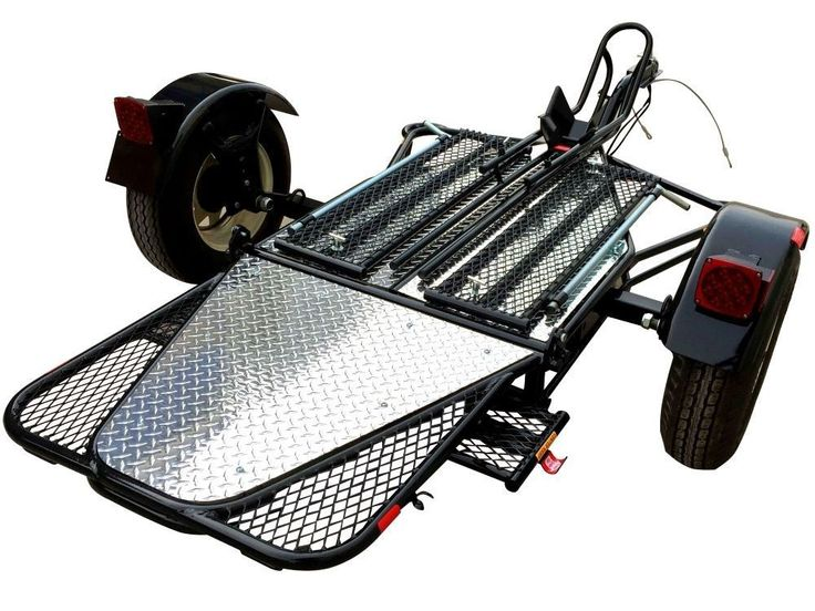 NEW Folding Single RAIL Motorcycle Trailer used for Harley