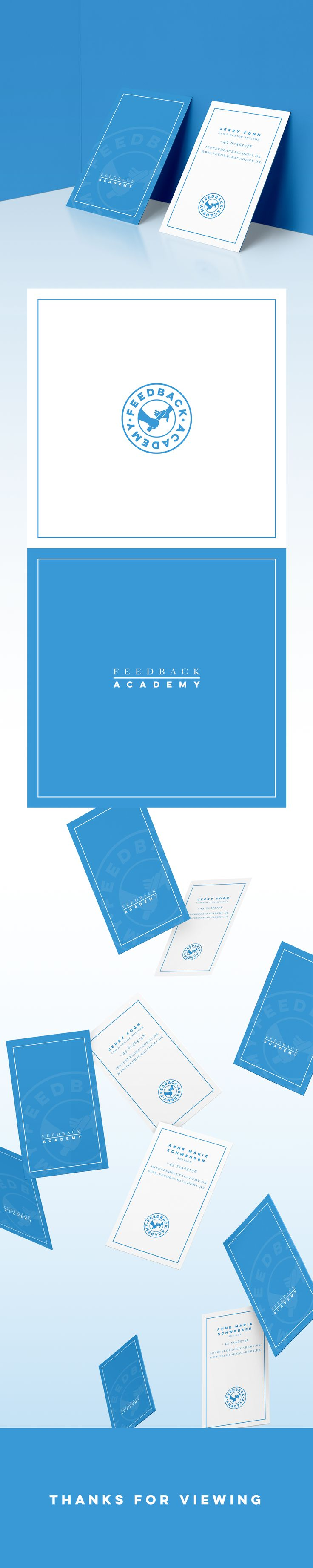 Feedback Academy - Art Direction, Branding. Logo and business card design for Feedback Academy. Logo Design, Visual Identity, Color palette, Business Card Design, Feedback Academy.