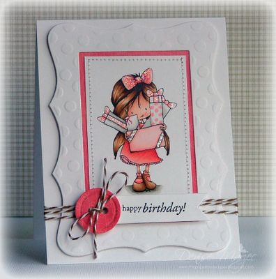 Tiddly Inks image, card by Denise