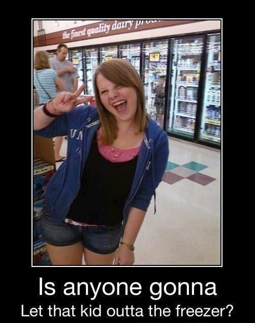 Hmm what looks different?? Uhh maybe the kid in the freezer!! Hahahaha