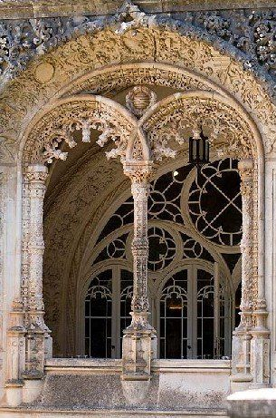Bussaco Palace Hotel, Portugal ~ so delicate and lacelike with the stone