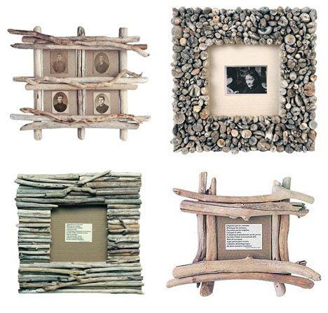 driftwoodBleu Nature, Beachy Frames, Driftwood Design, Driftwood Crafts, Drift Wood, Old Photos, Wood Frames, Pictures Frames, Frames From Driftwood