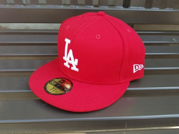New Era 59fifty L A Dodgers Hat Red White Letters Ne Tech 7 5 8 For Sale In Monterey Park Ca Offerup New Era 59fifty Dodger Hats Red And White