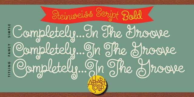 font love: steinweiss script #font