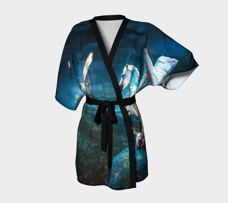 "Kimono+Robe+""Flights+of+Fancy""+by+JaniceO"