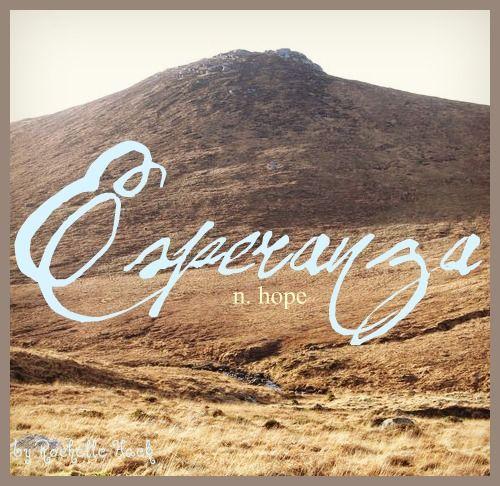 Baby Girl Name: Esperanza. Meaning: Hope. Origin: Spanish. http://www.pinterest.com/vintagedaydream/baby-names/