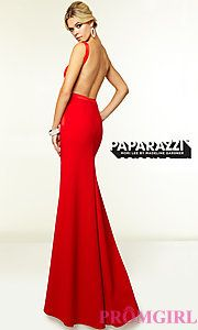 Image of Mori Lee 97099 Sleek Backless Prom Gown  Style: ML-97099 Back Image
