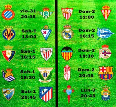 La Liga Full: Horario Jornada 29