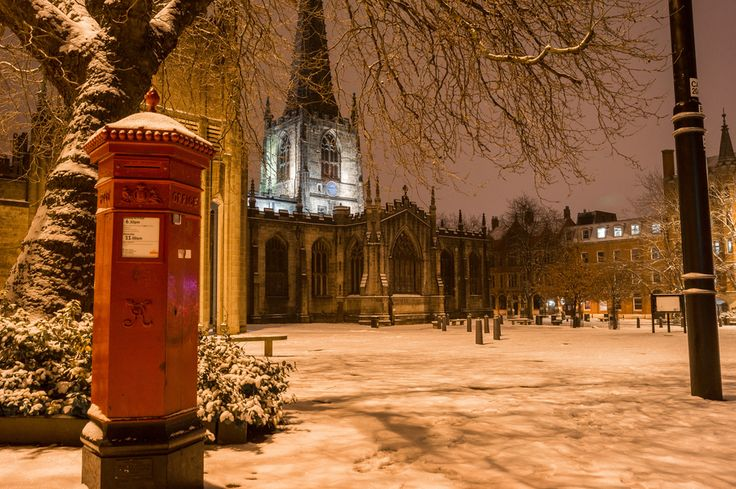 <3 Sheffield Cathedral in the snow sheffield #socialsheffield