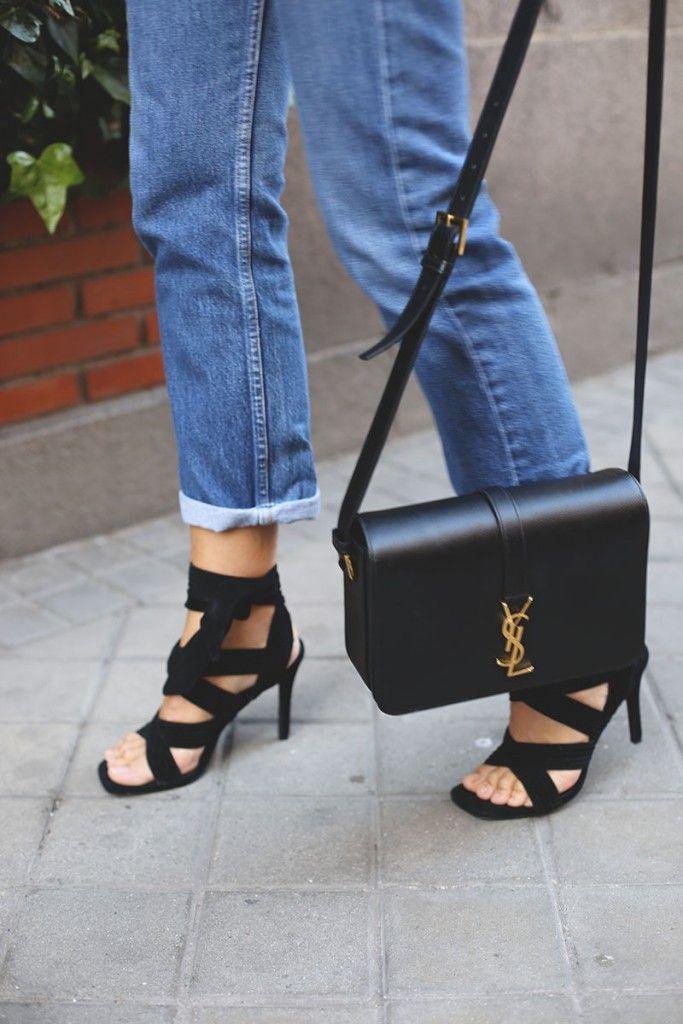 Senso high heel sandals, YSL bag | street style |Ladyaddict
