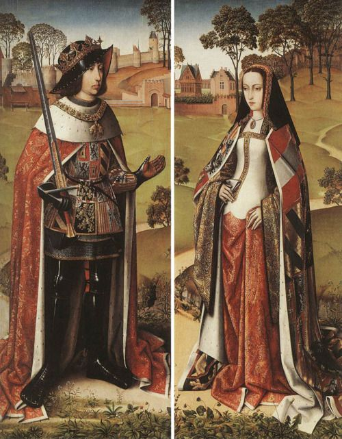 Philip the Handsome and Joanna the Mad of Castile, from the wings of the Last Judgement triptych from Zierikzee, by the Master of Afflighem or Master of the Joseph Legend (Flemish, active c.1470-1500)