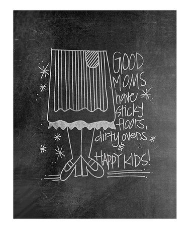 Take a look at this 'Good Moms' Chalkboard Print by Doodli-Do's on #zulily today!