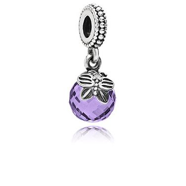 Butterfly Faceted Purple Cubic Zirconia Dangle £45