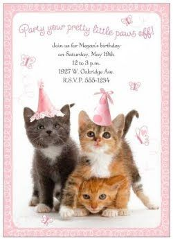 The Party   My daughter decided that for her 6th birthday she wanted a cat themed birthday party. We had just adopted a 1 yr old orange tabb...