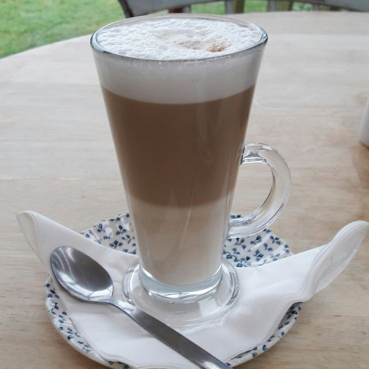 Latte at Rosie Lea's near Brockenhurst, Hampshire