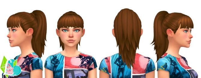Simple Ponytail at SimLaughLove via Sims 4 Updates