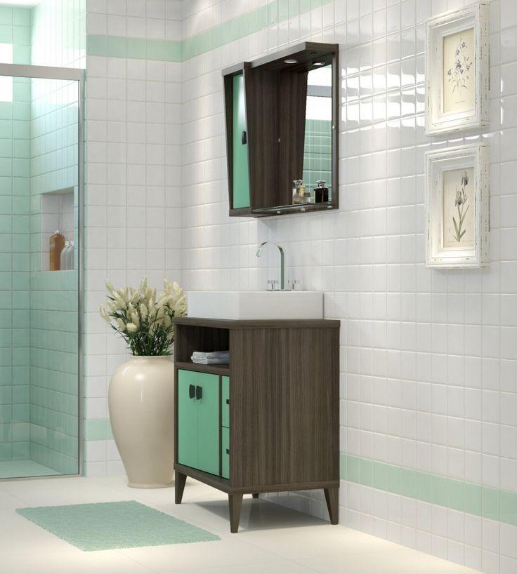 1000+ ideas about Espelheira on Pinterest  Gabinete Para Banheiro, Espelheir -> Pia Para Banheiro Sketchup